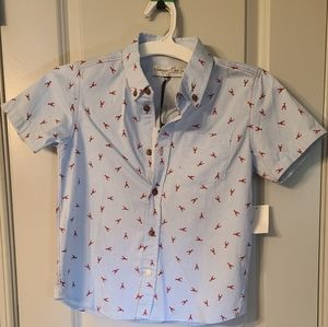 Boys 6 Sovereign Code Lobster Print Button up